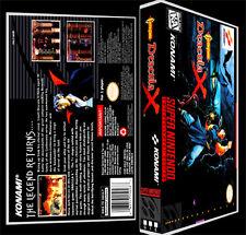Castlevania Dracula X  - SNES Reproduction Art Case/Box No Game.