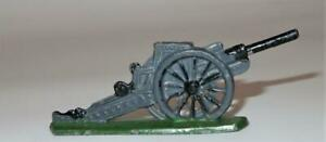 "Vintage Flat Lead, WWI Cannon Artillery, 3 1/2"" by 1 1/4"""