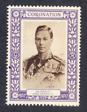 "GB 1937 Coronation ""Purple"" - King George V1  Mint"