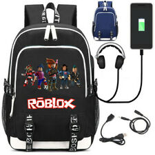 Game Roblox Rucksack usb charge Laptop Bags Teenagers school bag travel Mochila