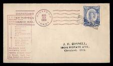 DR WHO 1934 TONGA NIUAFOOU TIN CAN ISLAND CANOE MAIL TO USA  f85774