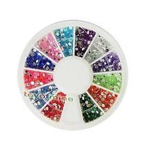 Nueva Nail Art Mix Rhinestones Glitters extremidades de acrílico Decoración