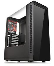 Thermaltake View 27 Black ATX Window Gaming Mid Tower Computer Case with Red ...