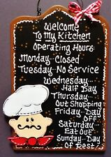 Fat Chef Kitchen Operating Hours Kitchen Sign Cucina Bistro Wall Art Plaque