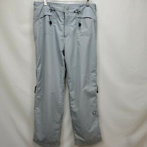 Roxy X Series Womens Waterproof Snowboard Ski Pants Size Large Gray Snow Pant
