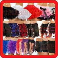 New Ladies Petticoat Tulle Tutu Long Skirt Fishtail Fancy Dress Costume Bridal