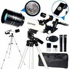 Upchase Astronomical Telescope,400/70mm Refractor Telescope for Kids and