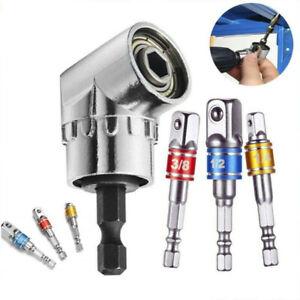 "Socket Adapter Set Hex Shank To 1/4"" 3/8"" 1/2"" Impact Driver 3pcs + 105° Drill"