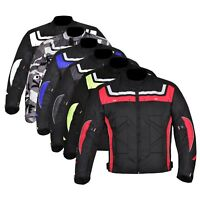 Men's Motorcycle Waterproof Cordura Textile Jacket Motorbike Armours