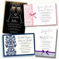 Personalised Wedding Day or Evening Invitations Invites Card FREE Envelopes