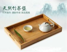 BAMBOO SERVING TRAY With Handle Tea Coffee Table Breakfast tray Kitchen
