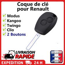 Coque clé plip pour Renault Clio Modus Twingo Kangoo avec vis 2 bouton sans lame