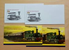 2010 Malaysia Trains Railway KTM 125 Years, Blank FDC (lot of 2 covers)
