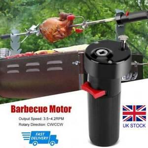 Electric BBQ Rotisserie Grill Motor Roast Rod Spit Universal Kit Set Meat Skewer