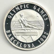 Medaille Olympische Spiele 1992 999er Silber Geräteturnen Zertifikat PP