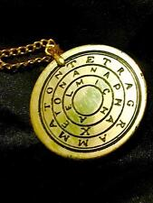 DISK OF SOLOMON TALISMAN SOLID BRASS Occult Magic Amulet Magick Witchcraft