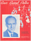 BEER BARREL POLKA (Roll Out The Barrel) 1939 KAY KYSER Vintage Sheet Music picture