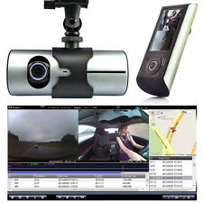 "2.7"" Vehicle 1080P Car DVR Camera Video Recorder Dash Cam G-Sensor GPS Dual Lens"