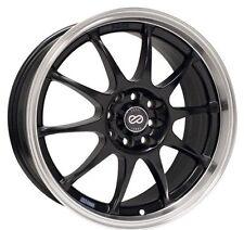 17x7 Enkei J10 4X100/108 +42 Black Rims Fits Accord Integra Civic Miata Fox
