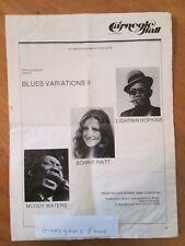 1973 program Carnegie Hall Muddy Waters Lightnin Hopkins Bonnie Raitt blues vari