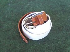 Reel Point Shelter Island Golf Country Club Belt Size Small White Stiched Belt