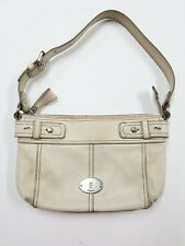FOSSIL white LEATHER  SHOULDER BAG HANDBAG PURSE