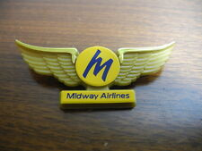 Nice Gold Midway Airlines Kid Plastic Pilot Wings NEW Perfect with Pin