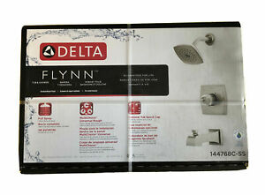 NEW Delta Flynn Stainless Steel Tub and Shower Faucet Brushed Nickel 144768C-SS