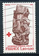 TIMBRE FRANCE OBLITERE N° 2116 STATUE CATHEDRALE AMIENS