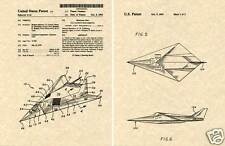 Lockheed F117 STEALTH Fighter Patent Art Print READY TO FRAME!!!! F-117 Jet