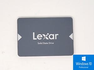 Lexar 256GB SSD 2.5'' SATA III 6Gb/s Solid State Drive + Windows 10Pro Installed