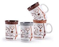 Wellberg WB-12811 Café Pause 5 Piece Mug Set With Chrome Stand Tea Coffee Cups