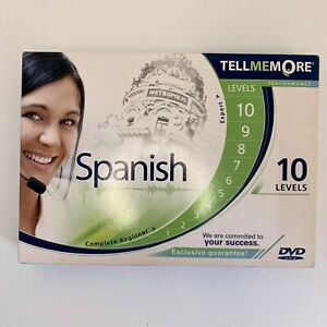 Spanish Language Course CD DVD 10 Lessons Tell Me More Premium RRP £300