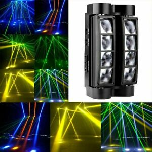 80W Spider Beam Moving Head Stage Lighting 8LED RGBW Bar Disco DJ Party Lights