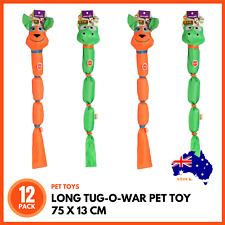 24 x DOG PET TOY ANIMAL WITH ROPE LEGS SQUEAKY 35cm Tug of War Interactive Play