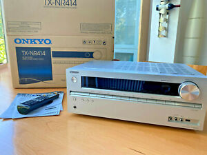 Onkyo TX-NR414 silber 5.1 Kanäle AV Receiver
