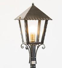 LANTERNA SU PALO HEIDI H.120 IN FERRO BATTUTO LAMPADE LAMPIONE APPLIQUE LANTERNE