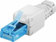 Tool-Free rj45 Network Connector UTP Cat 6 a OD: up to 5.2mm/6.4mm/7.5mm