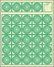 "IBS50RF - Official IBS Rimfire 50 Yard Target (100 Pck), Tagboard, Green 14""x17"""