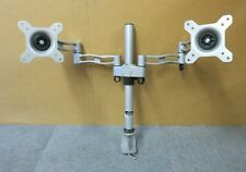 "Duronic DM352/SR Silver Dual Double LCD TFT Screen Monitor Arm 13""-27"" VESA"