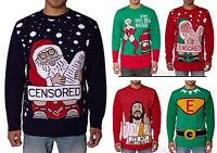 NOROZE Unisex Mens retro Ugly Naughty Knitted Xmas Christmas Jumper Pullover Top