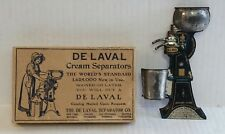 DE LAVAL MATCH SAFE CREAM SEPARATOR AND BOX ADVERTISING EMBOSSED TIN LITHO SIGN