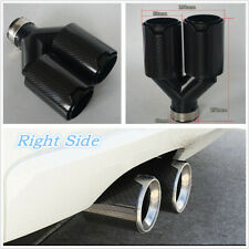 Y Style Full Black Glossy Carbon Fiber Thickened Modified Exhaust Tip Dual Pipe