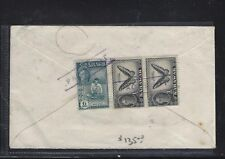SARAWAK POSTAL HISTORY (PP1509B) COVER 1950 KGVI  1C PR+6C PACQUETBOT  COVER