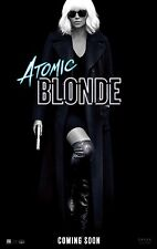 """ATOMIC BLONDE 2017 Advance Teaser DS 2 Sided 27X40"""" US Movie Poster C Theron"""