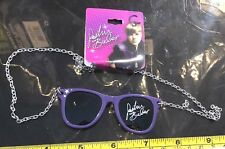 Justin Bieber Necklace Purple Glasses Shades JB Jewellery Claires RRP £7