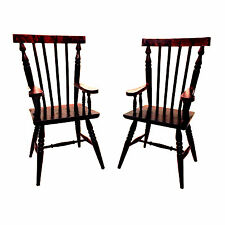 """2 Windsor Style Wood Doll Chair With Arms (for 12-14"""" Doll) BROWN 11.75"""""""