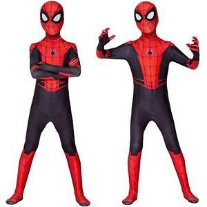 Kids Boy Cosplay Costume Spiderhero Spiderman Children Role Play pullover Suit