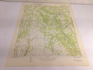 Franklinton Washington Parish Louisiana Quadrangle US Geological Survey Map 1939