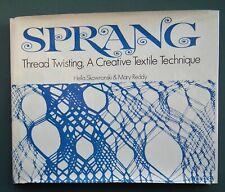 SPRANG Thread Twisting A Creative Textile Technique vintage 1970s weaving design